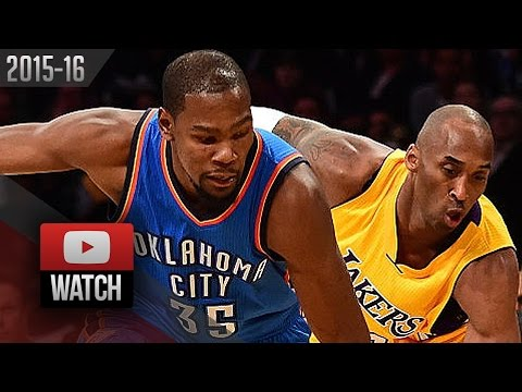 Kevin Durant vs Kobe Bryant Duel Highlights (2015.12.23) Lakers vs Thunder - TOO SICK!