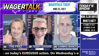 Free Sports Picks and Sports Betting   NBA Picks and EURO Soccer Preview   WagerTalk Today   June 23