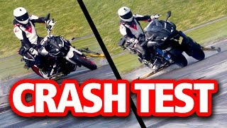 CRASH TEST: Yamaha Niken vs MT-09 | Is there more grip?