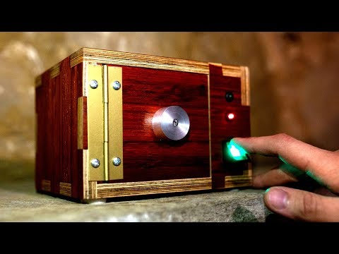 Making a Wooden Safe with Fingerprint Lock