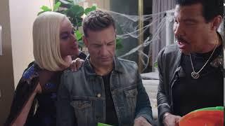 Katy Perry, Lionel Richie, Ryan Seacrest and Luke Bryan celebrating Halloween in American Idol