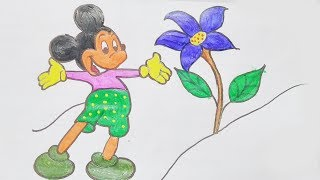 Mickey mouse drawing | Drawing Videos | Drawing for kids | Drawing Colouring