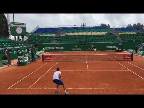 Novak Djokovic - Marin Cilic practice @ Monte Carlo Rolex Masters 2017