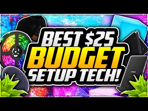 Top 5 BEST Budget Setup Tech UNDER $25! Best BUDGET Tech Accessories – September