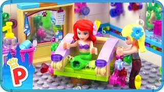 ♥ LEGO Ariel Visits Undersea HAIR SALON for a Haircut and Color Transformation