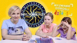Milionerzy, Wyzwanie dorośli vs dzieci, Kto wygra? Mama, czy siostry?