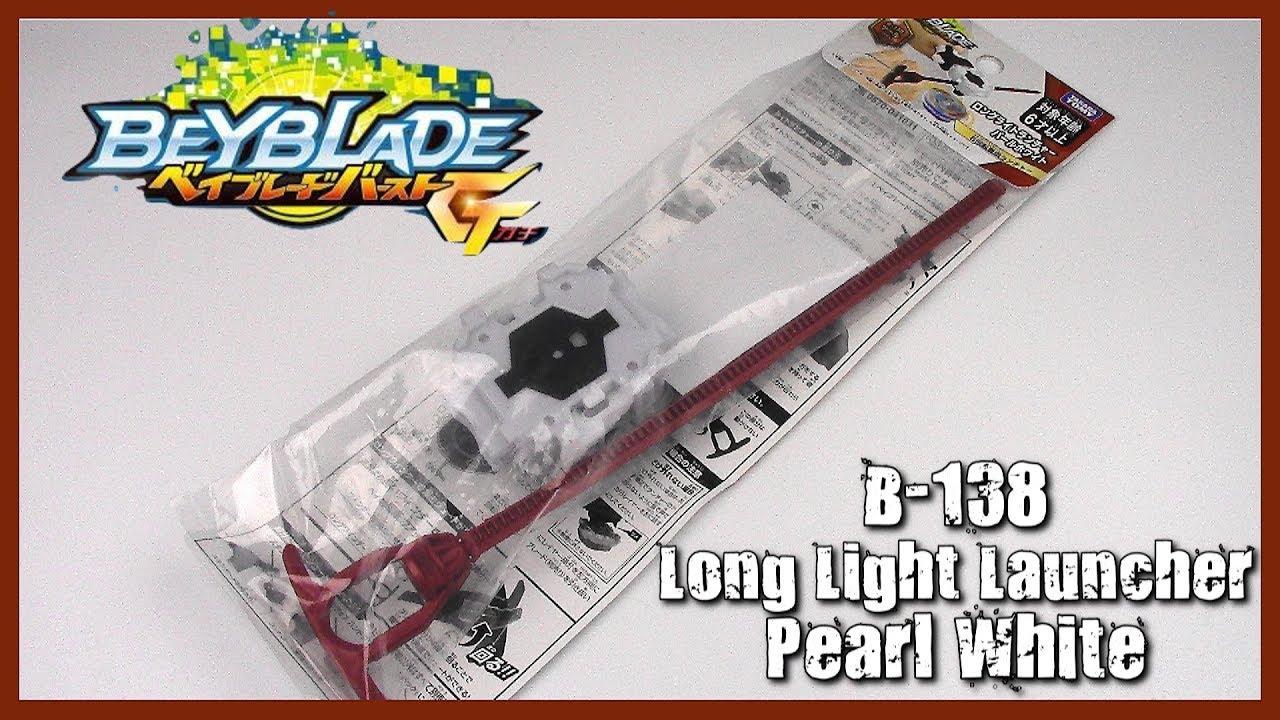 Beyblade Burst B-138 Long Light Launcher Pearl White