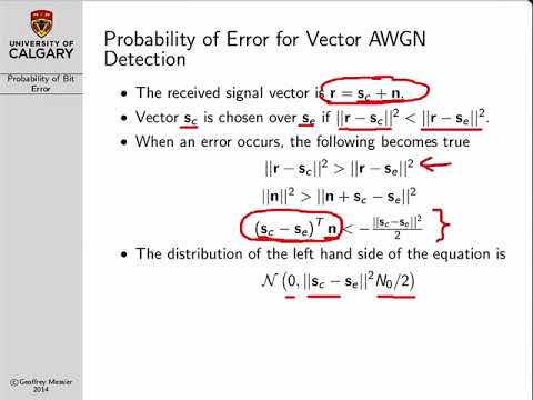 Digital Communications: Probability Of Bit Error