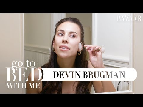 Devin Brugman's Nighttime Skincare Routine | Go To Bed With Me | Harper's BAZAAR thumbnail