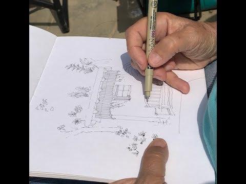 Water Conservation Garden - San Diego Urban Sketchers 2018