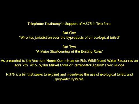 Who has jurisdiction over the byproducts of an ecological toilet?