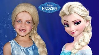 Frozen Elsa And Anna + more Kids Makeup Pretend Play How we make it Finger Family Song Nursery Rhyme