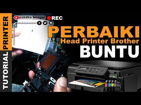 Perbaiki Head Buntu Printer Brother DCP-J105, Cara Service Head Printer Brother