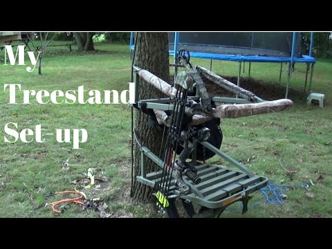 Climbing Treestand Hunting Set-up (How I Do It)