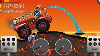 😂Hill Climb Racing - Fire Fruck on Volcano | GamePlay😂