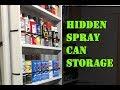 Hidden Spray Can Storage