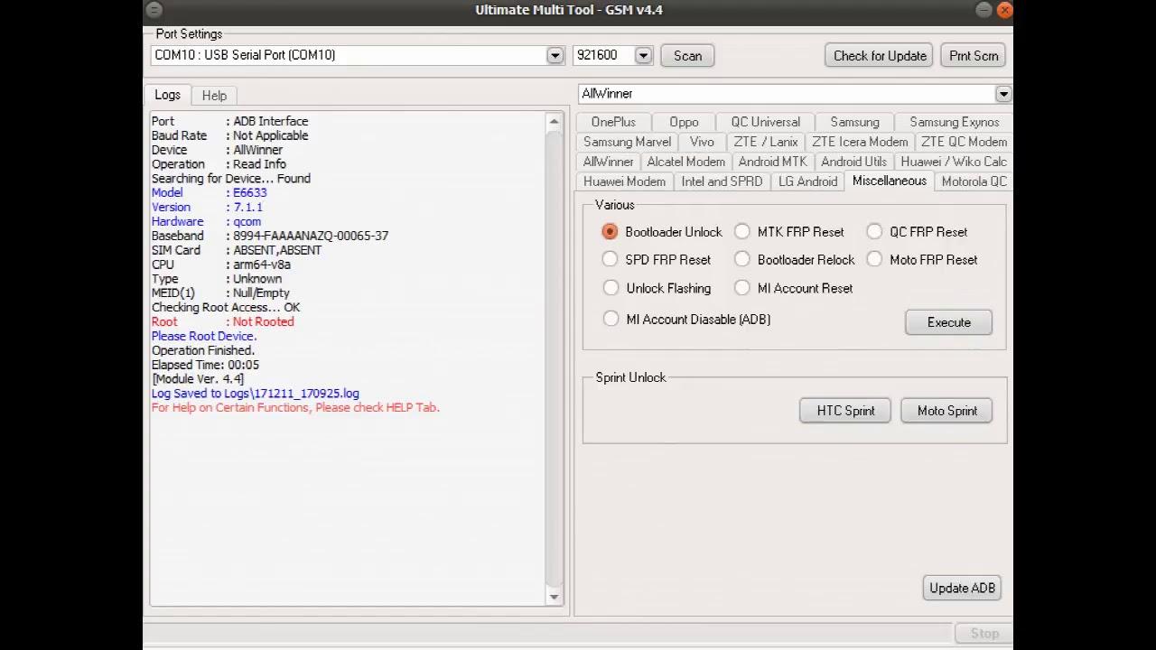Sony Xperia Z5 Dual E6633 Frp Remove Success UMT Box All The Mix