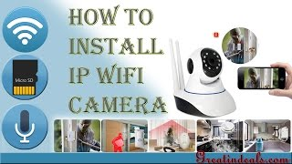V380  Ip camera Unboxing , Installation & configuration