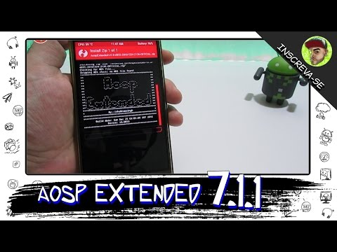 AOSP Extended 7.1.1 Oficial - LG G3/G2 - Moto X2/X Play/ G3 - Redmi Note 3 pro/ Note2 - Vibe K5