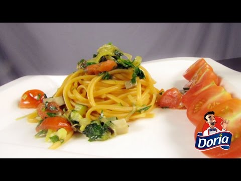 spaghetti doria con verduras