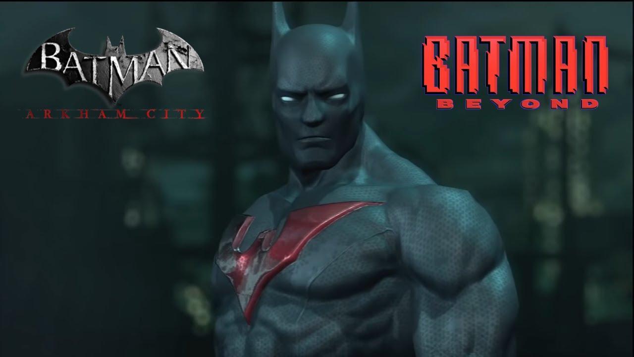 Batman: Arkham City - Batman Beyond Skin Gameplay - YouTube