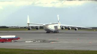 Antonov AN-225 on tarmac at Edmonton International Airport - June 28, 2014