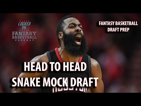 Fantasy Basketball Mock Draft | Watch Along With A Snake Draft H2H