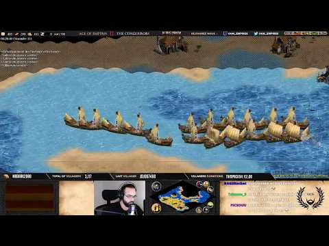 Age of empires II - OGN VS LETARIO - ISLAND - VIKING'S WAR + ANALYSE