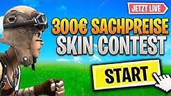 FORTNITE SHOP STREAM💥FORTNITE: Customs/Skin Contest + 300€ VERLOSUNG!💥 Fortnite Live Deutsch