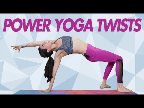 Power Yoga | Twist Away Belly Fat!  Tone Your Core, Spinal Flexibility | Julia Marie, YogaBody