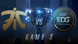 FNC vs EDG | Quarterfinal Game 3 | World Championship | Fnatic vs Edward Gaming (2018)