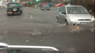 Floods in Dover Kent 14/7/12