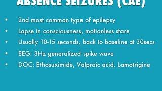 Absence Seizures.