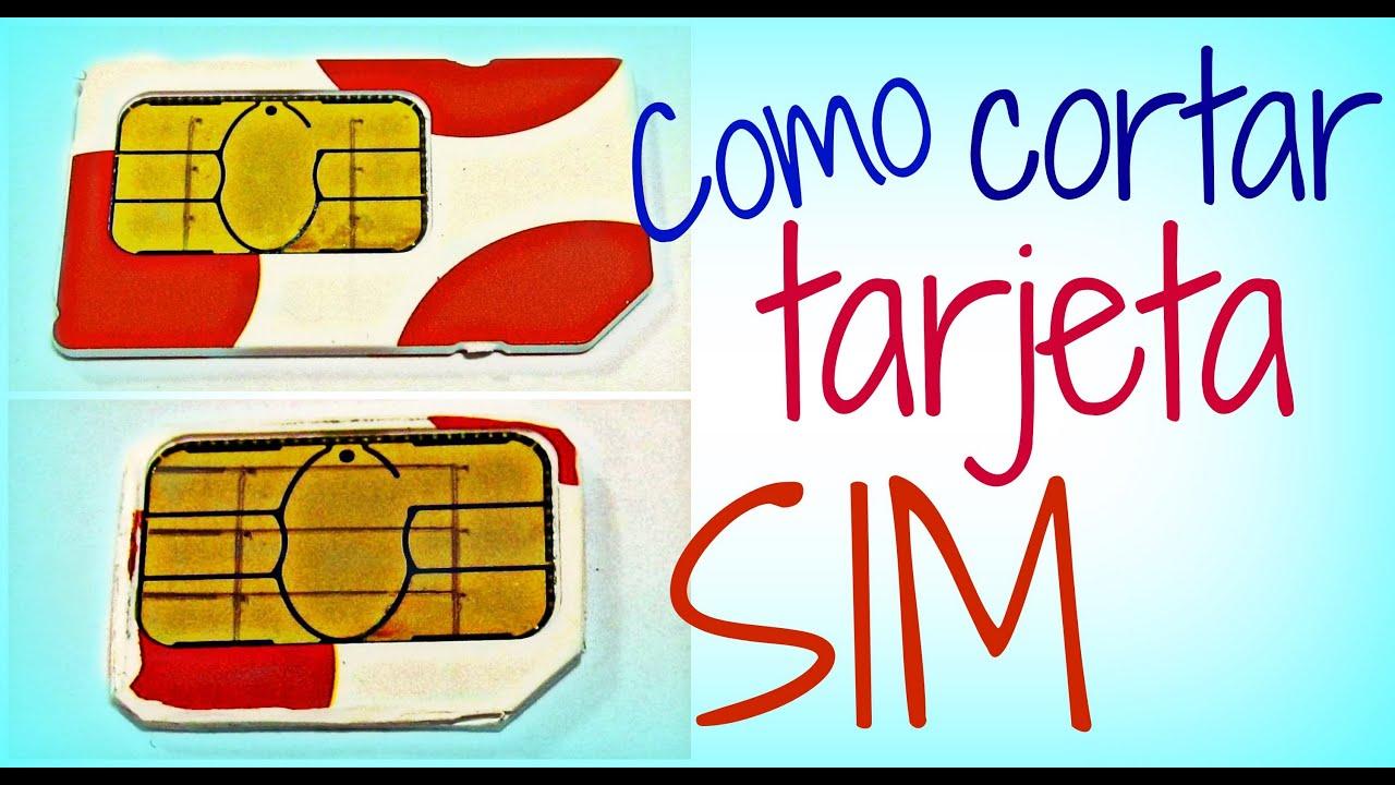 Como cortar tarjeta SIM a micro SIM (incluye plantilla) - YouTube