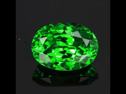 Tsavorite Garnet 4lcs 1559 2.76 carats