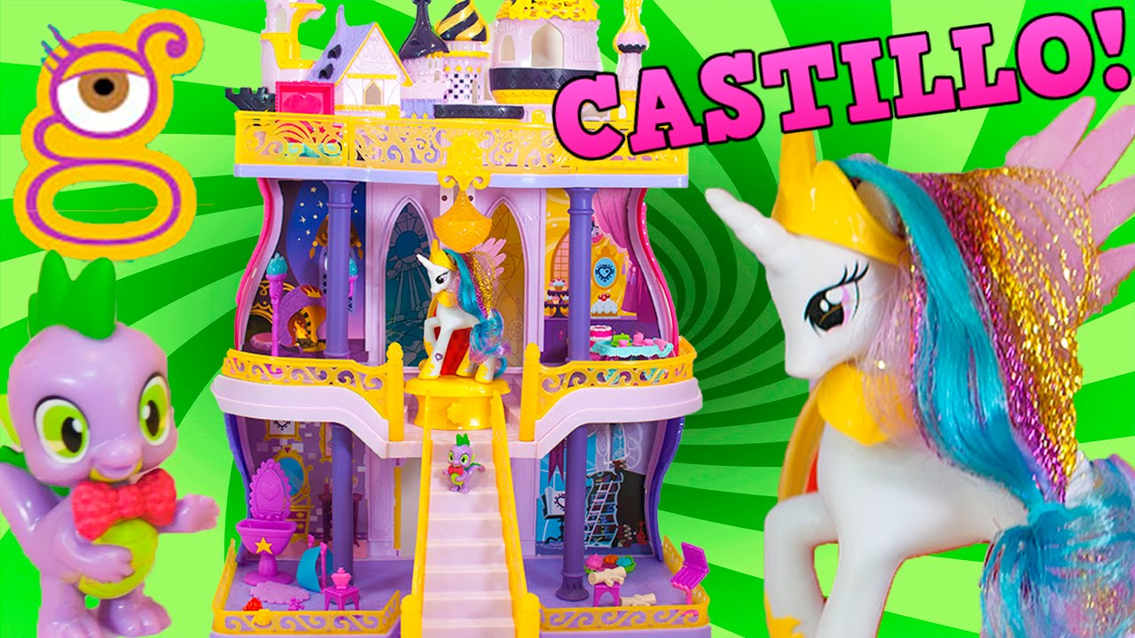 Canterlot Castillo Y Little Juguetes Con Toys Pony Celestia La Princesa My Spike Pw8nOk0
