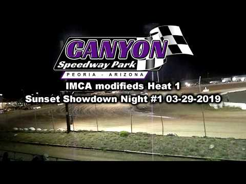 IMCA MODIFIED heat 1 canyon speedway park 3-29-2019