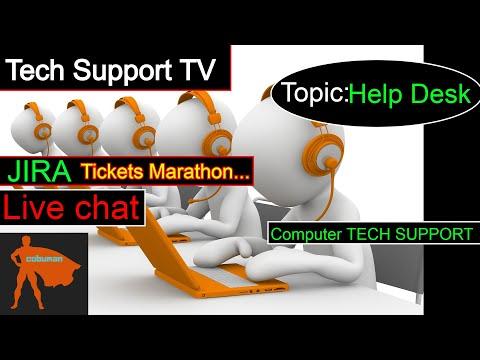 Tech Support TV, Topic: JIRA Help Desk Tickets Training Marathon.