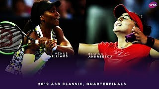 Venus Williams vs. Bianca Andreescu | 2019 ASB Classic Quarterfinal | WTA Highlights