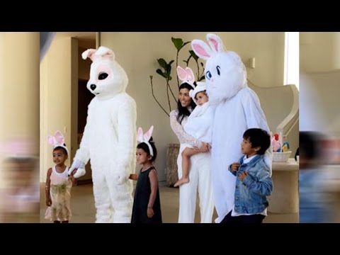 Kanye West & Tyga Put On Their Best Bunny Suits For Easter While Lamar Spends Time With Fam