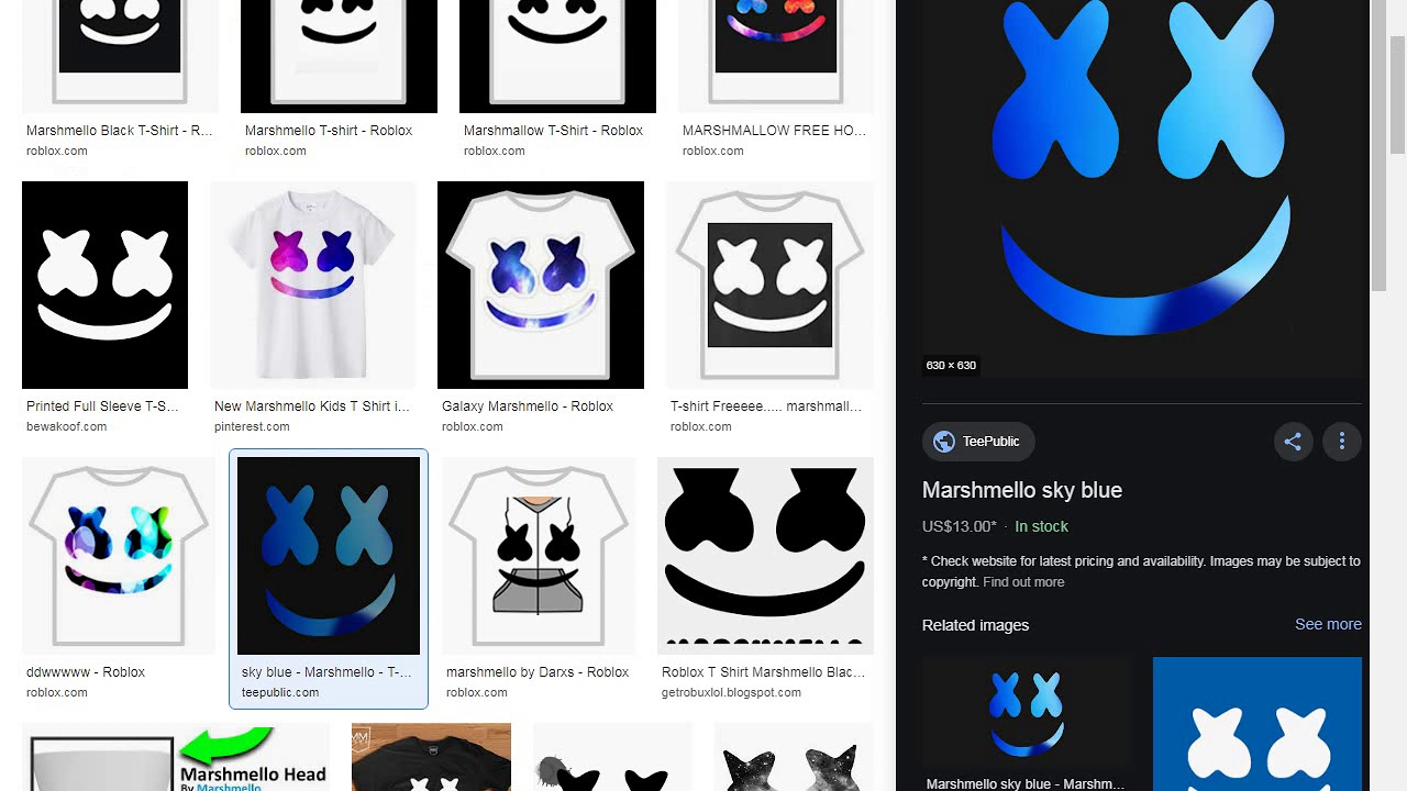 How To Get Free Marshmello T Shirt In Roblox 2019 Youtube