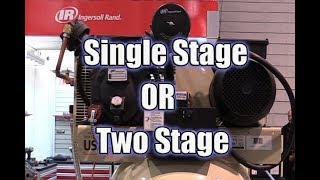 The Difference Between a Single Stage and Two Stage Air Compressor