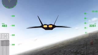 F18 Carrier Landing Lite v 7.1 - Testing F22 RAPTOR new aircraft and fligth simulator