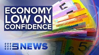 Investors signal low confidence in Australian economy | Nine News Australia