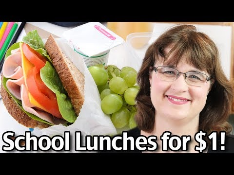School Lunches for $1! Stop Spending All Your Money On School Lunch!