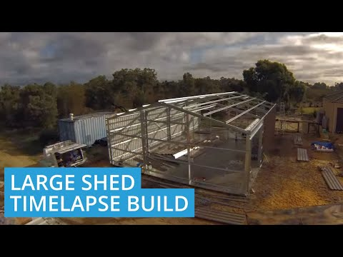 Time Lapse Construction of Shed in Banjup, Western Australia 6164