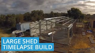 Roys Steel Time Lapse Construction Of Shed