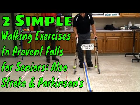 2 Simple Walking Exercises to Prevent Falls for Seniors; Also Stroke & Parkinson's