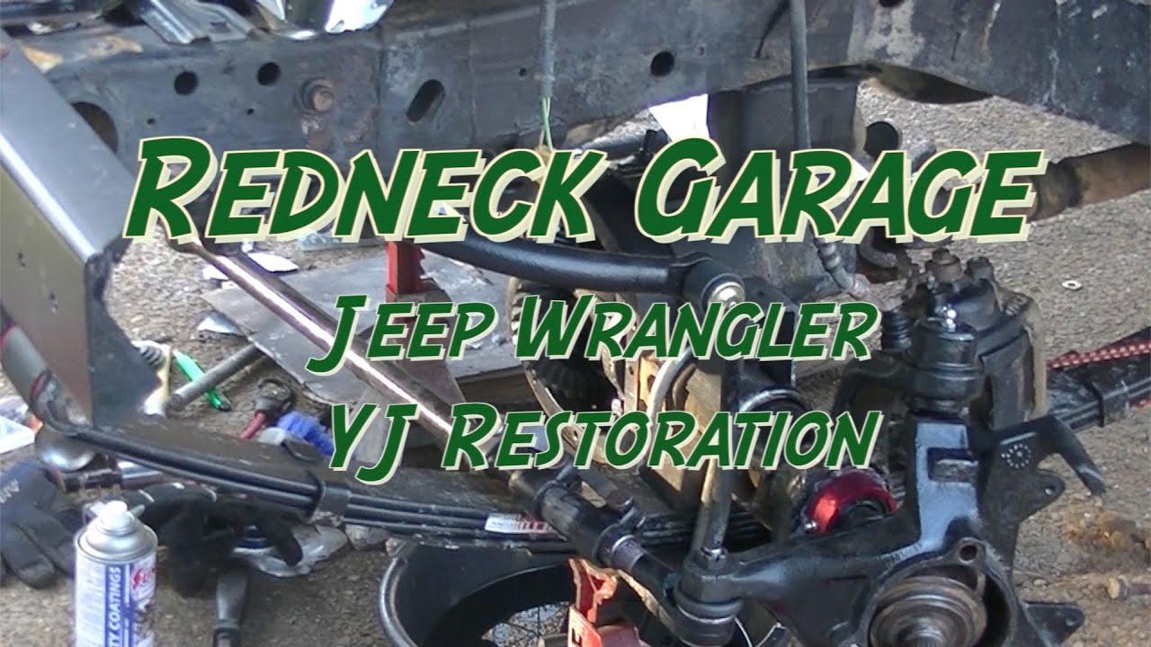 Jeep Wrangler Yj Front End Rebuild 4 W Axle Tube Seals Not Youtube Cj Dana 30 Diagram On Tj Rear Suspension