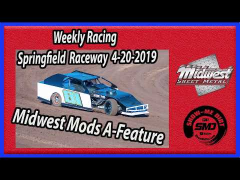 S03 E188 Midwest Mods A-Feature - Weekly Racing Springfield Raceway 4-20-2019 #DirtTrackRacing